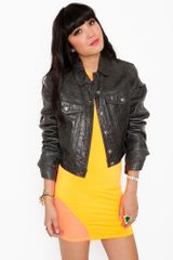 Nasty Gal Versace Leather Jacket - Lyst