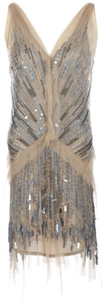 P.a.r.o.s.h. Decolletè Sequined Dress - Lyst