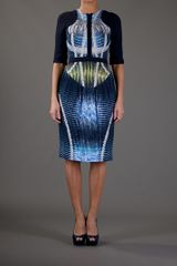 Peter Pilotto Sail Dress in Blue (multi) - Lyst