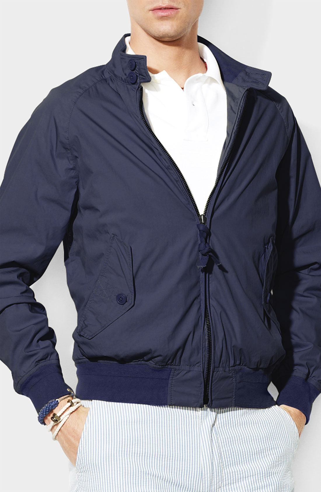 polo ralph lauren barracuda jacket in blue for men lyst. Black Bedroom Furniture Sets. Home Design Ideas