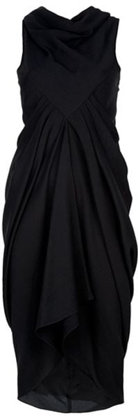 Rick Owens Silk Crepe Dress in Black - Lyst