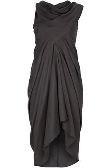 Rick Owens Silk Crepe Dress - Lyst