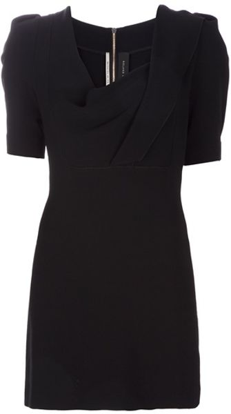 Roland Mouret Cowl Neck Dress in Black