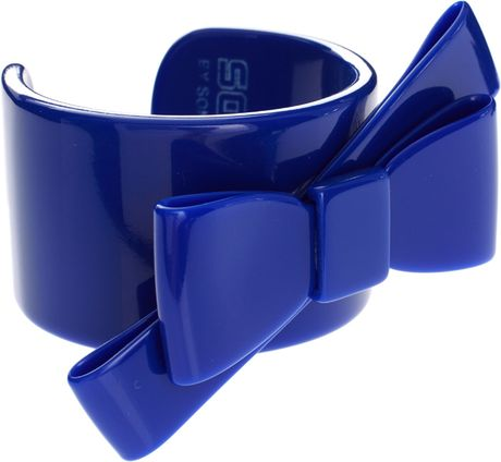 Sonia By Sonia Rykiel Blue Bow Cuff in Blue - Lyst