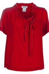 Sonia By Sonia Rykiel Neck Tie Blouse in Red - Lyst