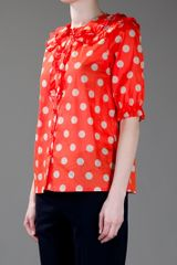 Sonia By Sonia Rykiel Polka Dot Top in Red - Lyst