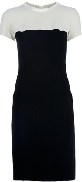 Stella Mccartney Twotone Dress in Black - Lyst