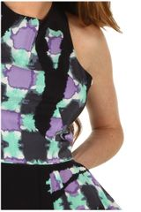 Tibi Geneva Print Sleeveless Draped Dress in Purple (l) - Lyst