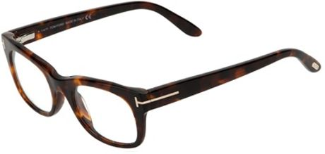 Tom Ford Round Frame Glasses in Brown - Lyst
