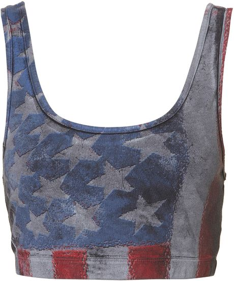Topshop American Flag Bralet in Blue (multi) - Lyst