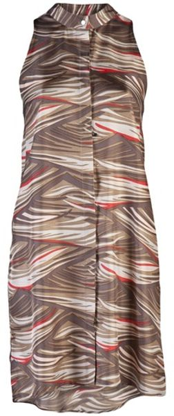 Veronica Beard Bohemian Wave Dress in Brown (khaki) - Lyst