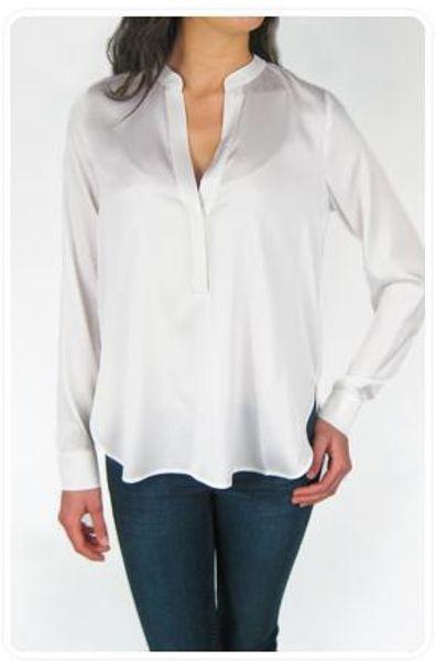 White Silk Blouse Ebay 56