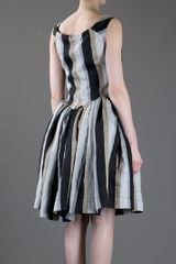 Vivienne Westwood Anglomania Striped Dress in Gray (grey) - Lyst