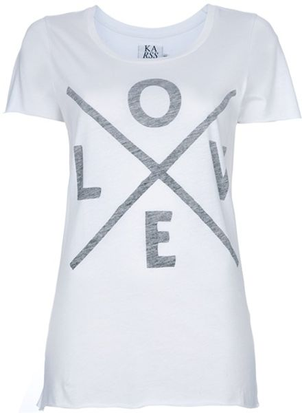 Zoe Karssen Love Tshirt in White - Lyst
