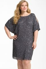 Aidan Mattox Cold Shoulder Sequin Dress - Lyst