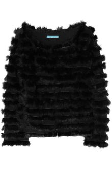 Alice + Olivia Honor Rabbit Trimmed Wool Jacket - Lyst