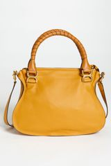 Chloé Marcie Small Calfskin Satchel in Yellow (safari) - Lyst