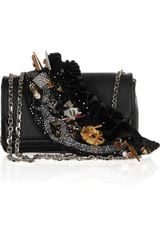Christian Louboutin 20th Anniversary Artemis Paris Embellished Leather Shoulder Bag