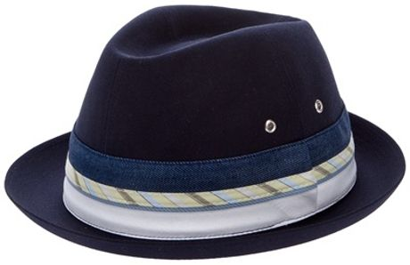 Comme Des Garçons Stripe Hat in Blue for Men - Lyst