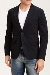 Dolce & Gabbana Two Button Cotton Jersey Blazer - Lyst