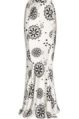 Duro Olowu Printed Silk Satin Maxi Skirt