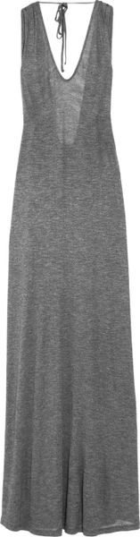 Elizabeth And James Molly Openback Jersey Maxi Dress in Gray (anthracite) - Lyst