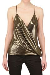 Haider Ackermann Draped Techno Metallic Jersey Top - Lyst