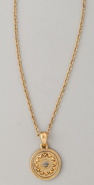 House Of Harlow Small Sunburst Pendant Necklace in Gold - Lyst