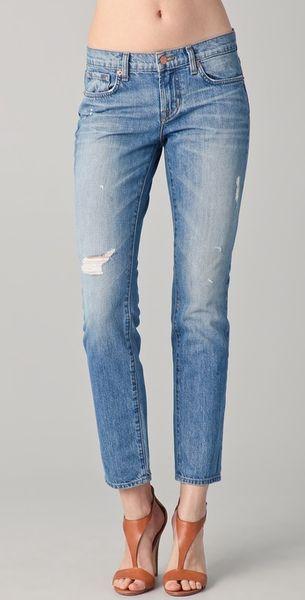 J Brand Aidan Slouchy Boy Jeans in Blue