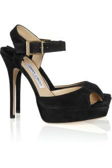 Jimmy Choo Linda Suede Sandals - Lyst