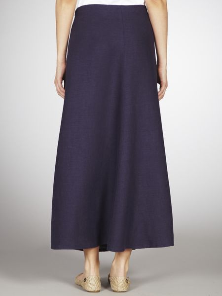 lewis linen maxi skirt navy in blue navy lyst