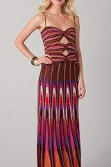 M Missoni Back To Front Strapless Lurex Gown - Lyst