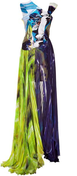 Mary Katrantzou Underwater Fairytale Silk Dress - Lyst
