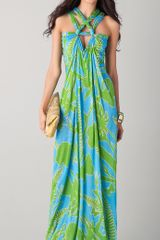 Matthew Williamson Escape Tropical Rope Knot Column Dress - Lyst