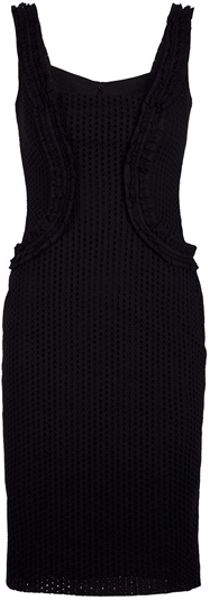 Mcq By Alexander Mcqueen Perforated Dress in Black - Lyst