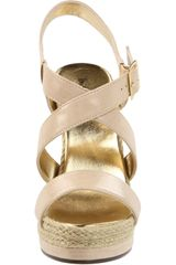 Michael Antonio Womens Galin Wedge Sandal in Beige (tan) - Lyst