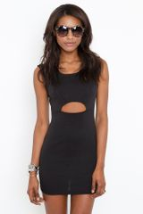Nasty Gal Sliced Up Dress in Black - Lyst