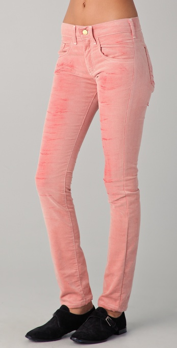 Roseanna Velours Faded Corduroy Pants in Pink | Lyst