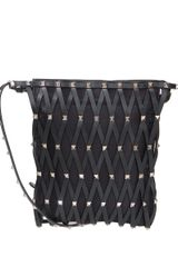 Valentino Rockstud Shoulder Bag in Black - Lyst