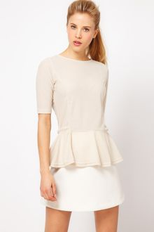 ASOS Collection Top with 40s Peplum - Lyst