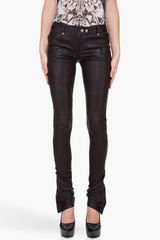 Balmain Leather Front Pocket Pants - Lyst