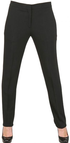 Calvin Klein Stretch Crepe Cady Trousers in Black - Lyst