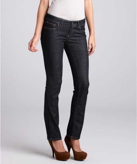 Celine Dark Blue Stretch Denim Skinny Jeans in Blue