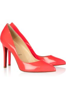 Christian Louboutin Pigalle 100 Patentleather Pumps - Lyst