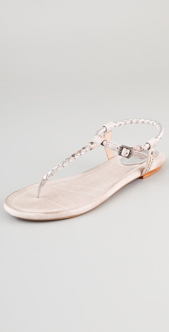Lyst Frye Madison Braided Sandals In Metallic