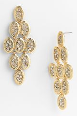 Tasha Crystal Kite Chandelier Earrings - Lyst