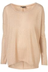 Topshop Oversized Lurex Sweat - Lyst