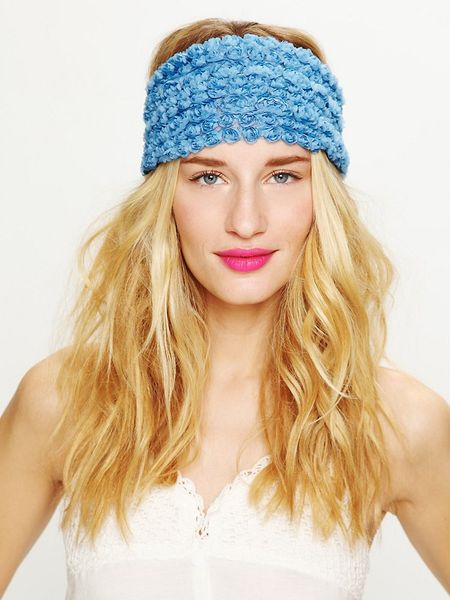 Free People Tatty Floral Gauze Headwrap in Blue
