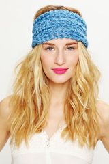 Free People Tatty Floral Gauze Headwrap in Blue - Lyst