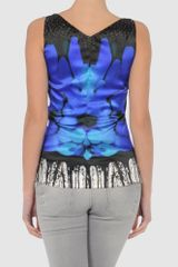 Roberto Cavalli Tops in Multicolor (blue) - Lyst